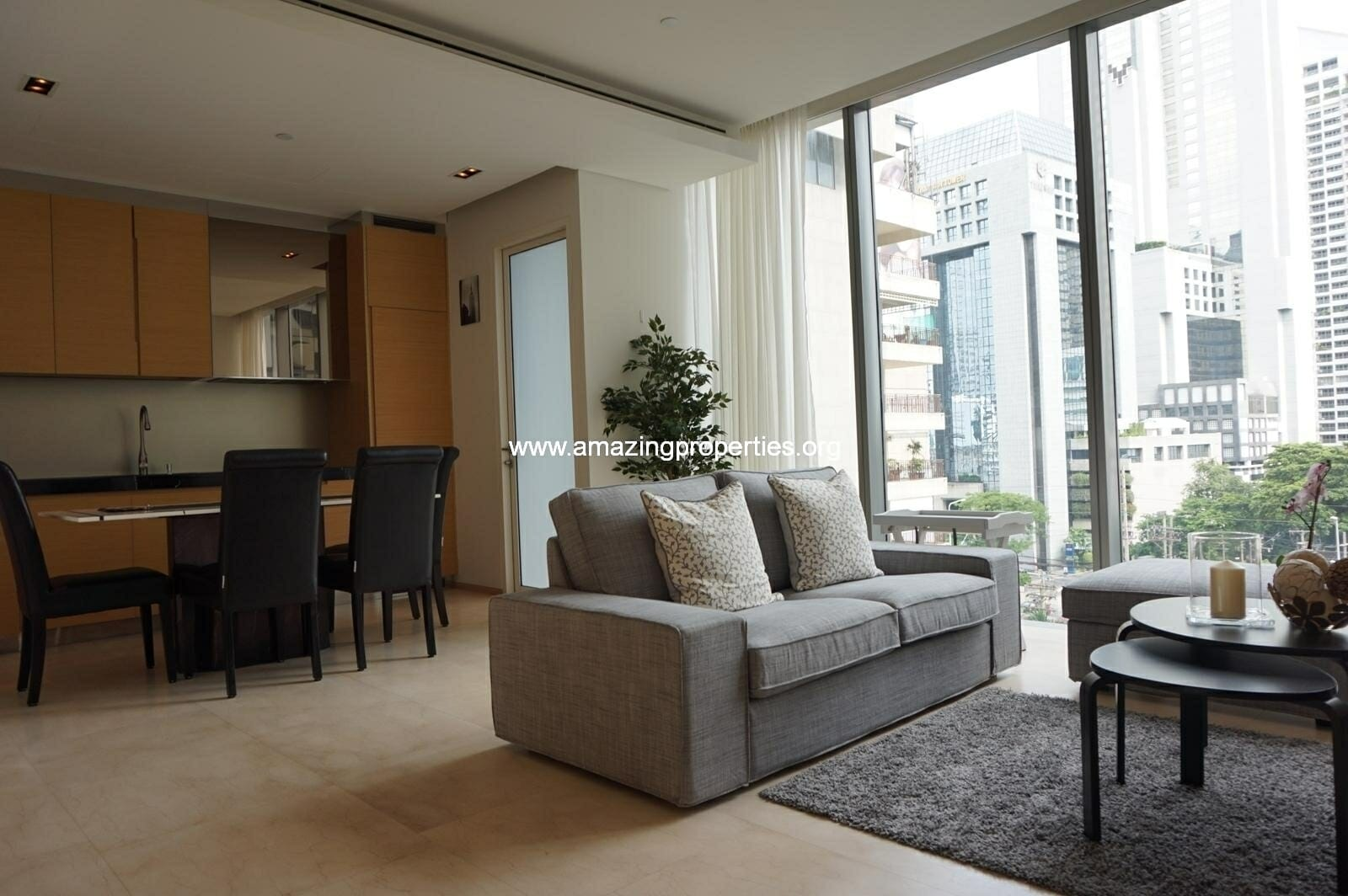 Saladeang Residences 1 bedroom condo for rent Silom
